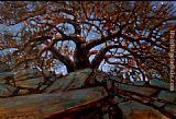 Brent Lynch Elephant Tree Midnightt Eldoralo painting